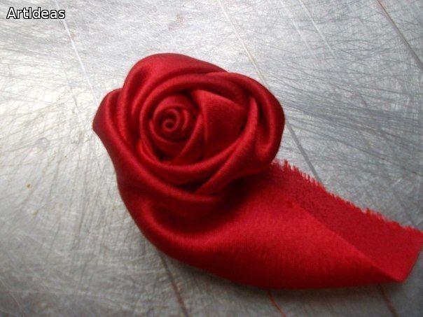 Розы из ткани мастер-класс