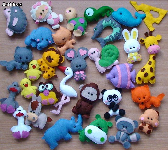 Картинки игрушки из фетра